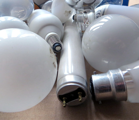 Fluorescent tubes, bulbs and batteries